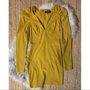 Mustard Body-con Dress